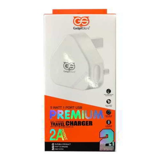 2.1A Gadget Store 2-In-1 Fast Charger Kit Type C