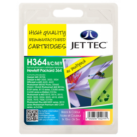 HP HP364 Black, Cyan, Magenta, Yellow Multipack JetTec